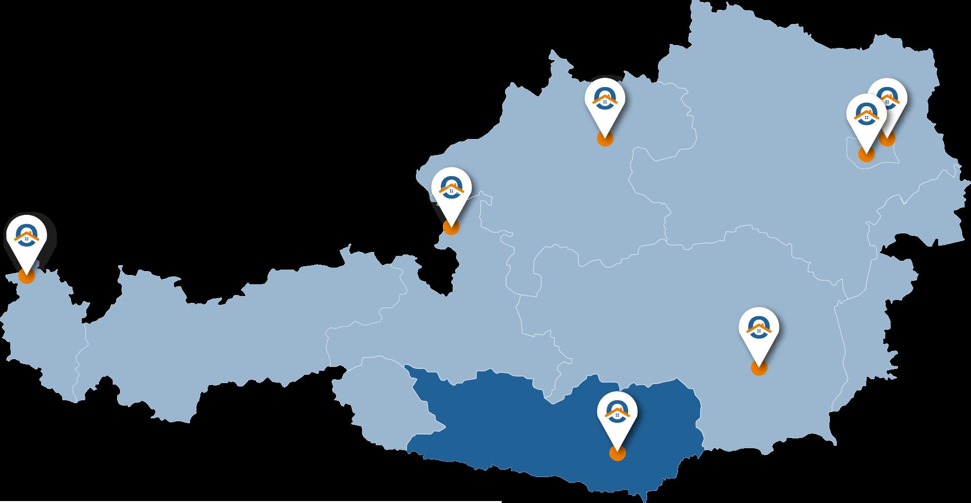 Oesterreich-Karte-Ktn