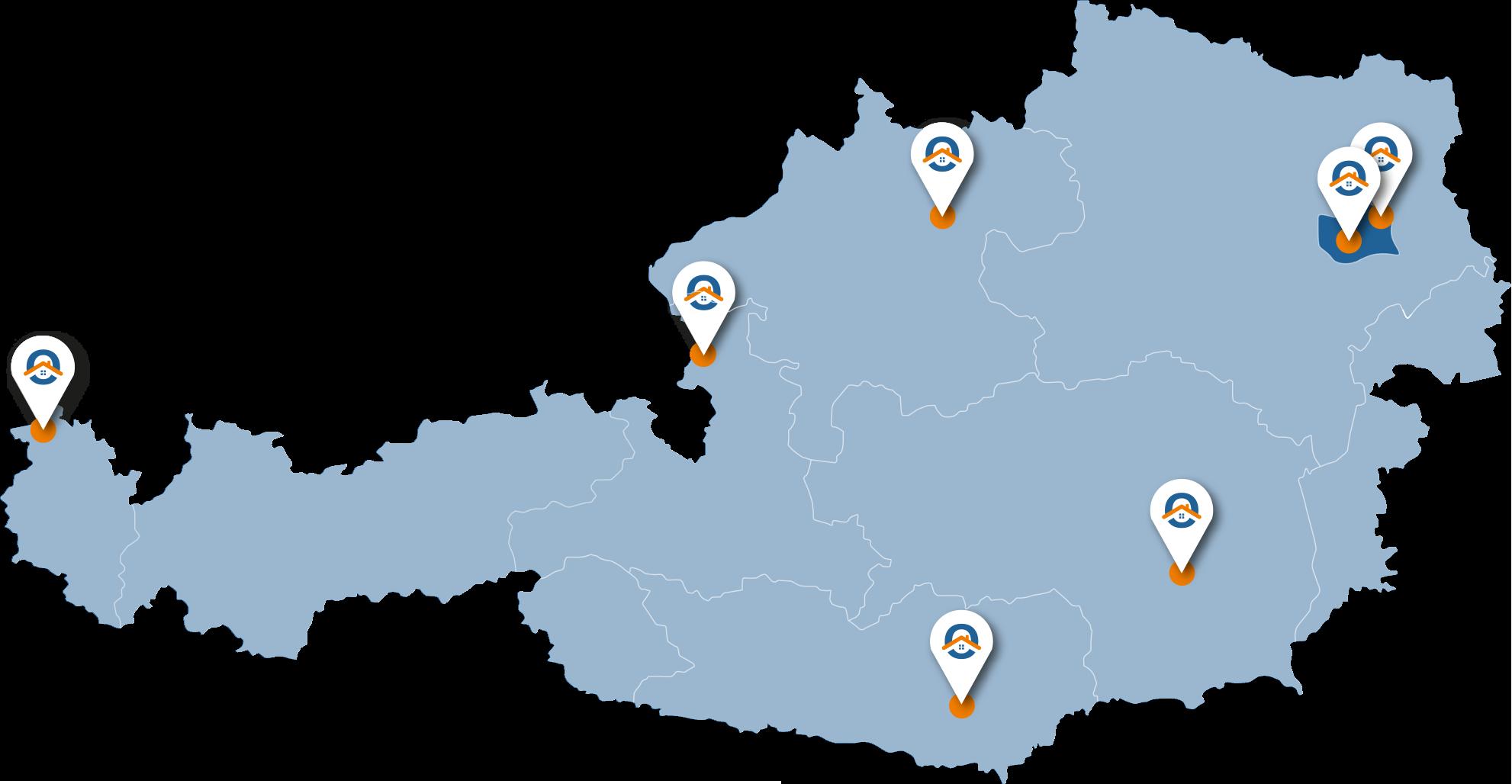 Oesterreich-Karte-Wien